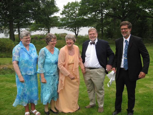 Kerstin, Ingrid, Agneta, Pepe, y Lars