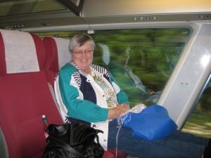 Disfrutando de un viaje en tren