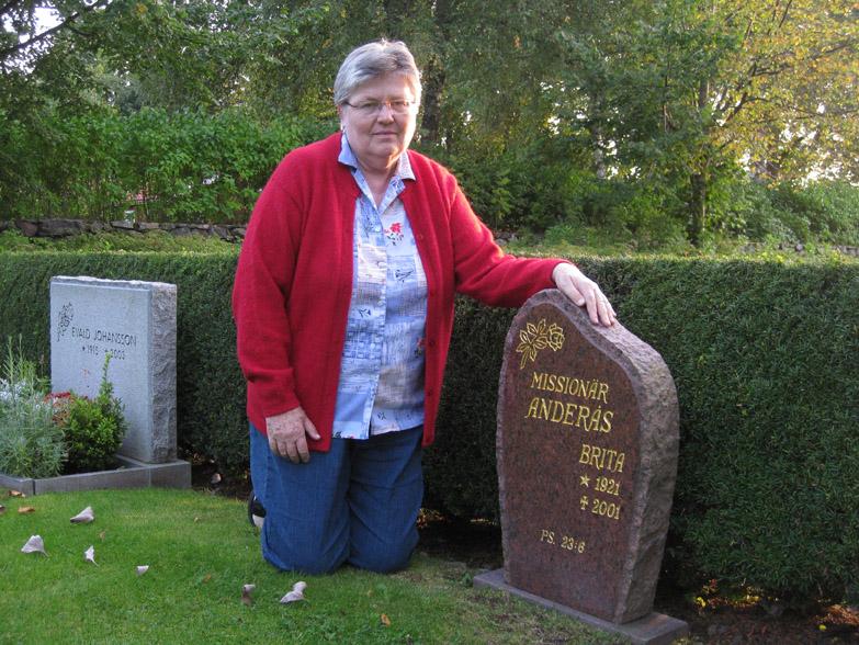 La tumba de mi madre, Brita de Anderas, en Vrigstad