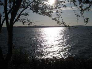 Puesta de sol en el lago Vättern