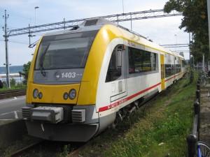 El tren en que viajé en Suecia