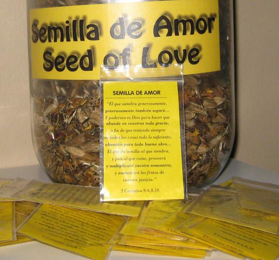 Para ti también hay una bolsita de semilla de amor