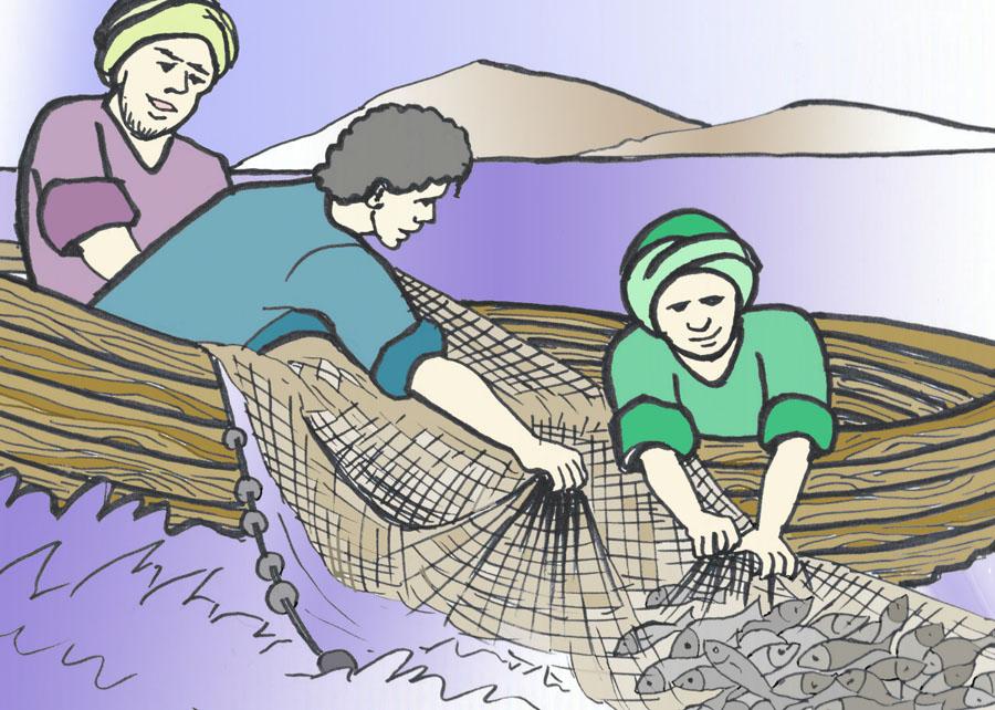 Dibujos Para Colorear Un Pescador: En Las Pisadas De Jesucristo El Hijo De Dios: 20 Lecciones