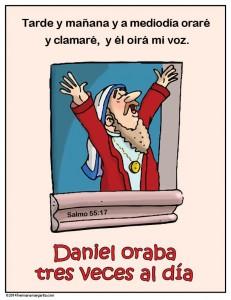 Daniel oraba tres veces al dia