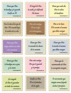 8 tarjetas de bendicion A sin texto