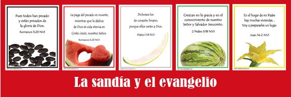 La sandia y el evangelio laminas